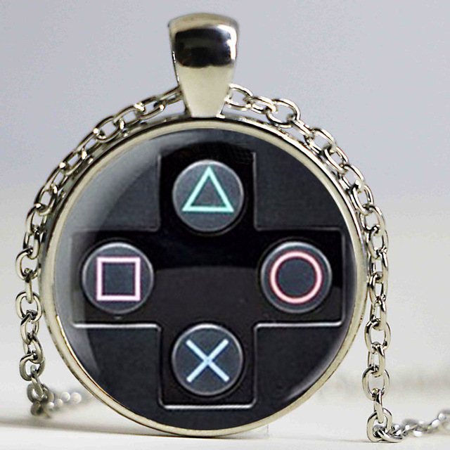 Playstation controller necklace geeky boyfriend perfect gift idea playstation controller necklace geeky boyfriend perfect gift idea jewelry video game controller pattern pendant aloadofball Choice Image