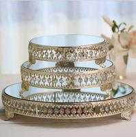 Diameter 25/31cm Mirror glass fruit plate Home birthday party event Cake stand for wedding decoration Cosmetic storage DGP009