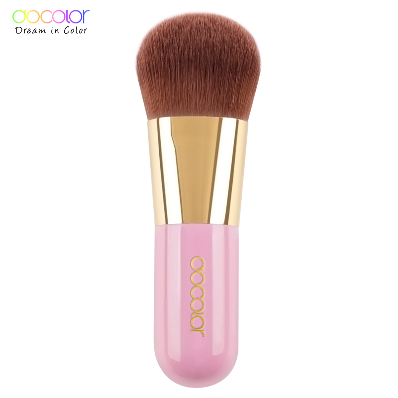 Best Foundation Brush Pink and Green Makeup Brush with Box Fast Make up Brushes Beauty Essential Makeup Tools