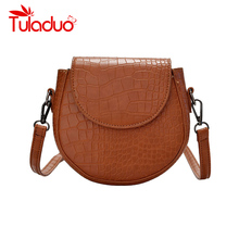 Bags for Women 2019 New Shoulder Bag Female Crossbody Bags Saddle Classic Bag Ladies Crocodile Print Small Leather Shoulder Bag цена