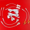 6 tipo Tens Electrodos Decenas Cables Conductores Para Adultos Producto Del Sexo Descarga Eléctrica Cable de Accesorios de BRICOLAJE