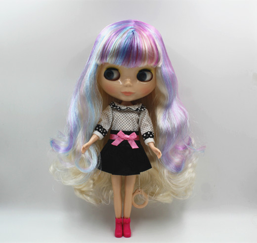 Blygir lNude dolls Blyth dolls ordinary body 7 joints colorful bangs hair can be replaced body does not contain clothesBlygir lNude dolls Blyth dolls ordinary body 7 joints colorful bangs hair can be replaced body does not contain clothes