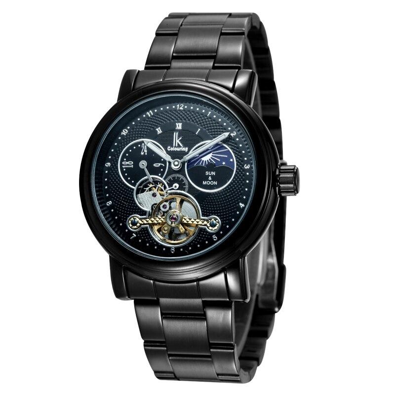 2017 IK Top Brand Man Watches Automatic Men's 24Hours Moonphase Mechanical Wristwatch Original Box Free Ship цены онлайн