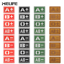 Красные сувениры светящиеся ПВХ Patchs A+ B+ AB+ O+ положительная A-B-AB-O-отрицательная тактика крови патч военный Резиновый значок