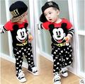 New baby suit cartoon children autumn boys clothes suit children long sleeve cotton baby clothes 0 to 3 years old free shipping