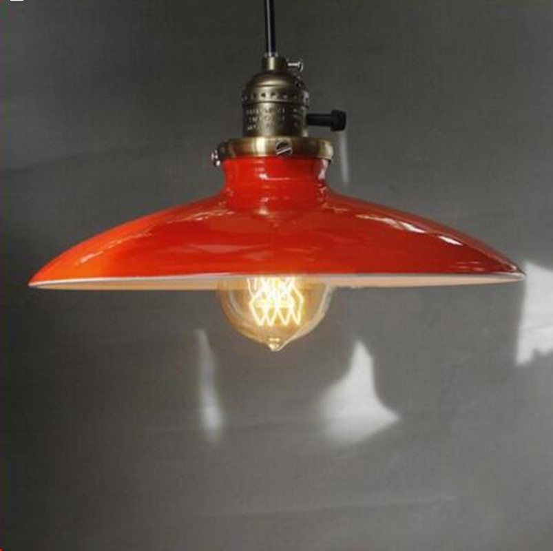 Lukloy Pendant Lights Lamp Vintage Retro Industrial Retro Kitchen Pendant Lamp Shade Light For Dining