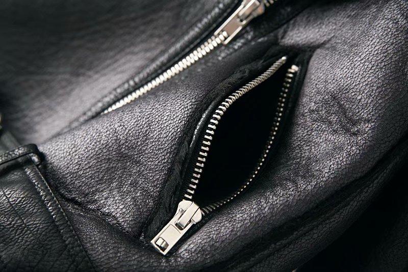 Warm women's winter motorcycle velvet jacket female short 20