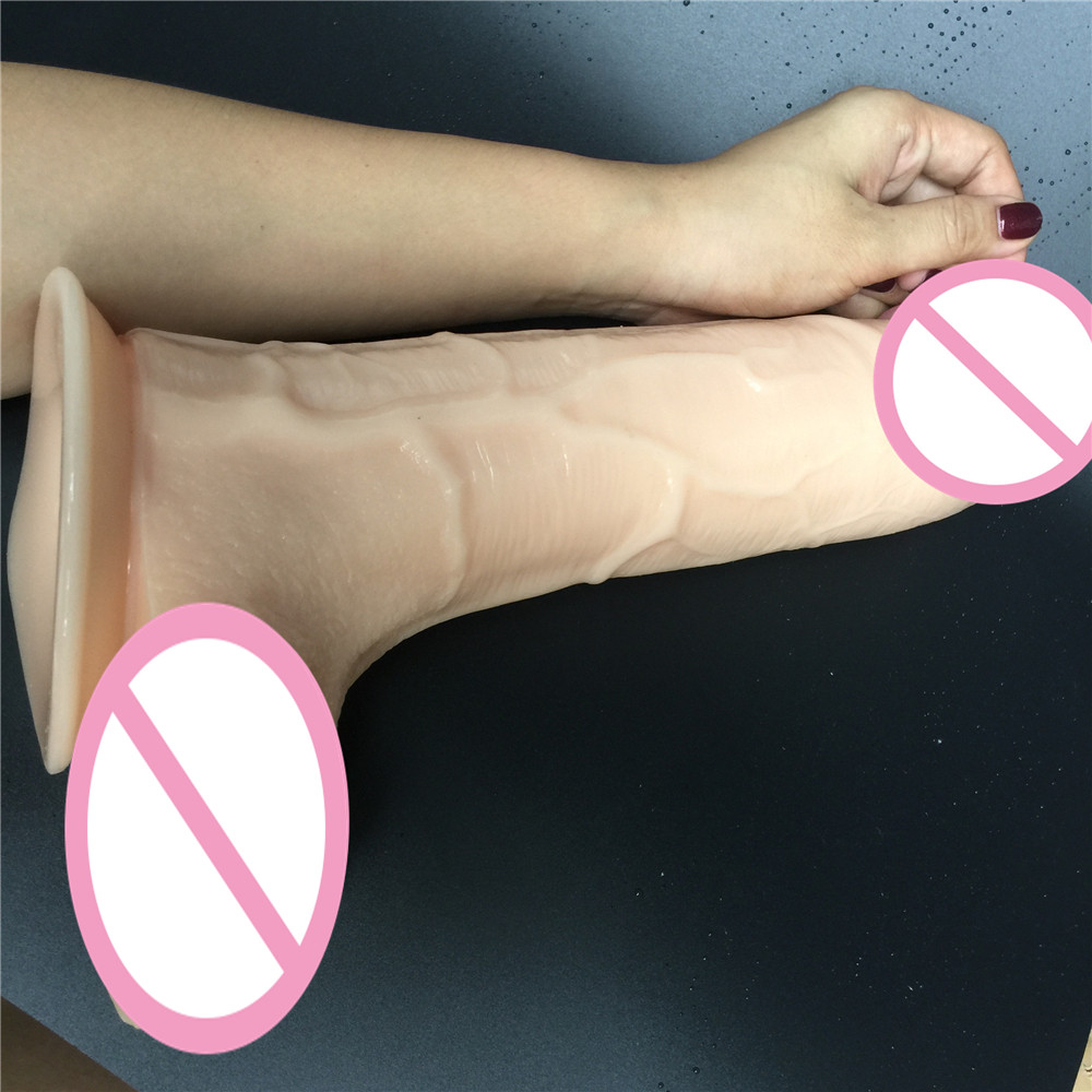 11.6 inch D: 6.8 cm super Big Realistic Silicone Dildo Super Thick Dildos Sturdy Suction Cup Penis Dick for Women Horse Dildo 32 5 7cm big dildo super huge thick giant dildos sturdy suction cup realistic soft penis dick for women horse dildo sex toy