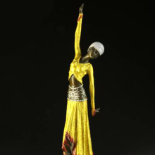 Long skirt dancing girls handmade modern art lady bronze  dancer  figurinesculpture home decor holiday Christmas Gift czs-204b