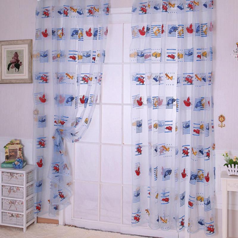 nueva para nios toddler kids coche patrn voile panel pura habitacin puerta cortina de ventana cortinas