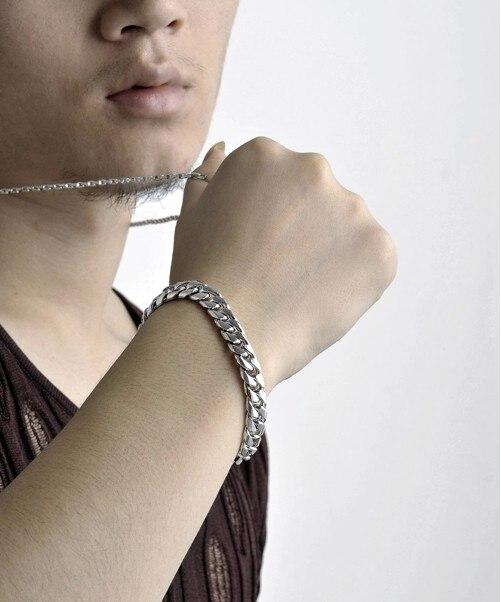 Byzylyk për burra Fashion, byzylyk argjendi për burra; 925 rrathë - Bizhuteri të modës - Foto 5