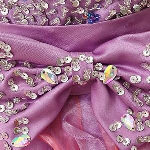 Image 5 - Renkli Ruffles Mini mezuniyet elbiseleri kabarık boncuk yay sevimli kristal sevgiliye resmi mezuniyet parti kıyafeti organze SD131