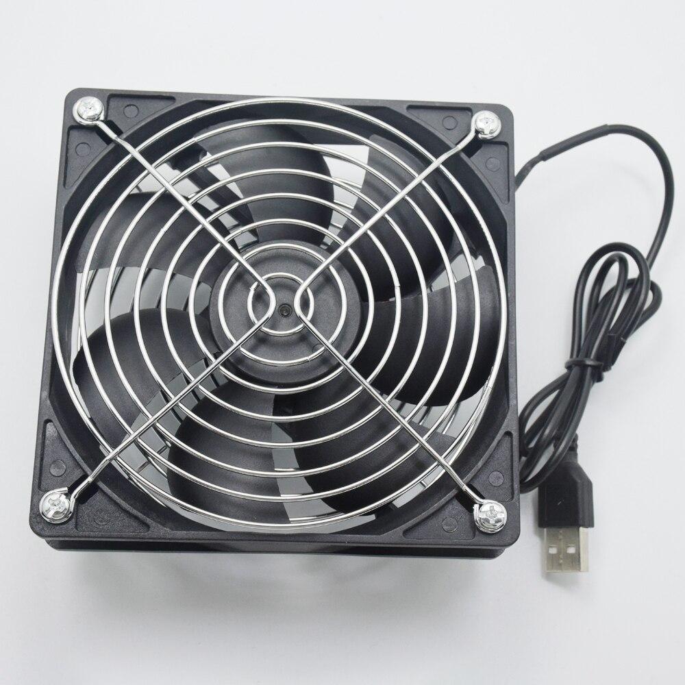 TV Box sans fil routeur ventilateur de refroidissement DC 5 V USB puissance 120mm 120x120x25mm 12 CM silencieux ordinateur refroidisseur W/vis et grille garde