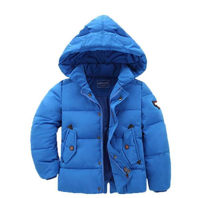 Crianças JacketsCoats Para Meninos Marca de Moda Inverno 2016 de Algodão Grosso Casaco Outwear Para Baixo Parka Casual Roupa Das Crianças Com Capuz Quente