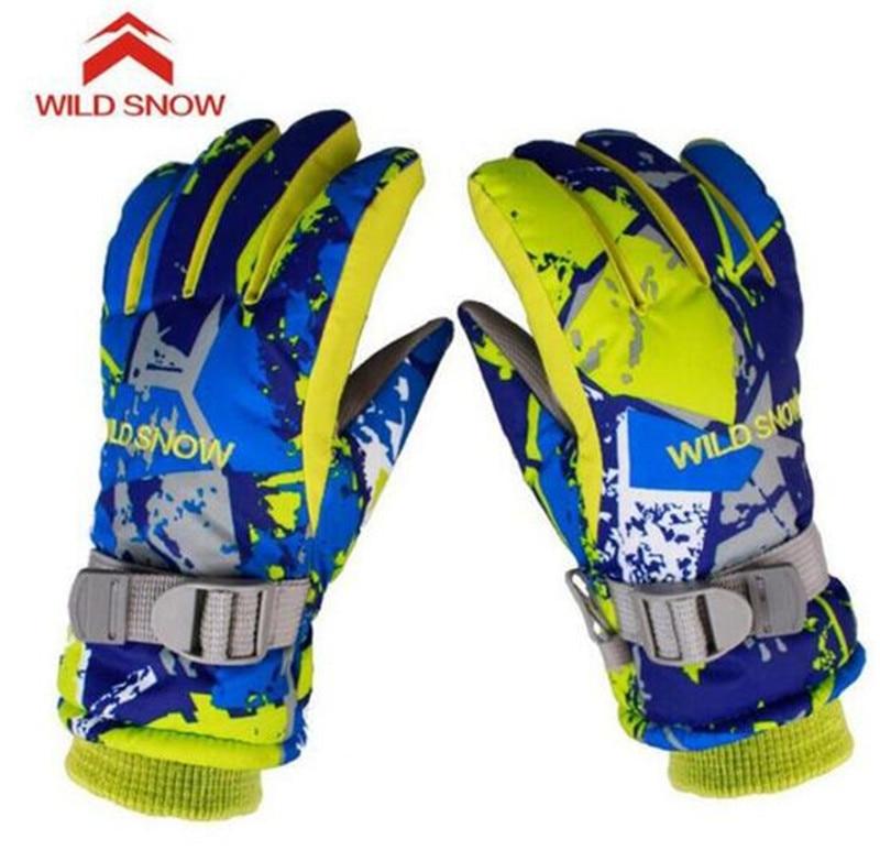 WILD SNOW Snowboard Winter Ski Gloves Warmth Windproof Waterproof Cute Skiing Gloves Waterproof Warm Gloves Mittens