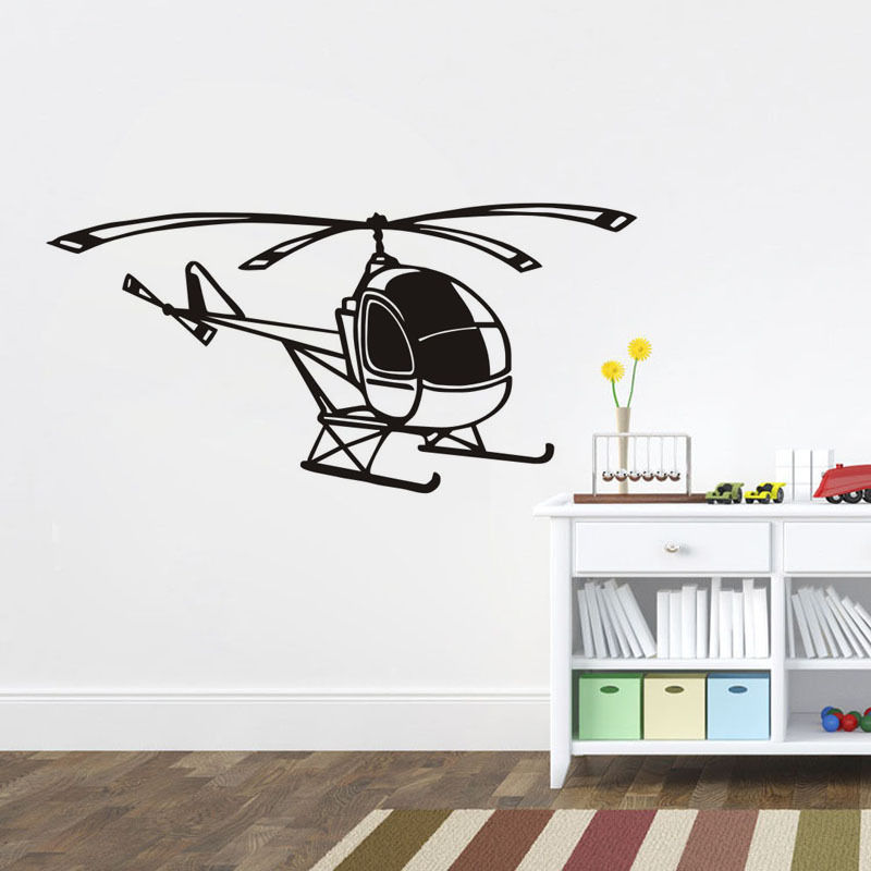 Online Get Cheap Helicopter Decor Aliexpresscom Alibaba Group - Vinyl wall decals airplane