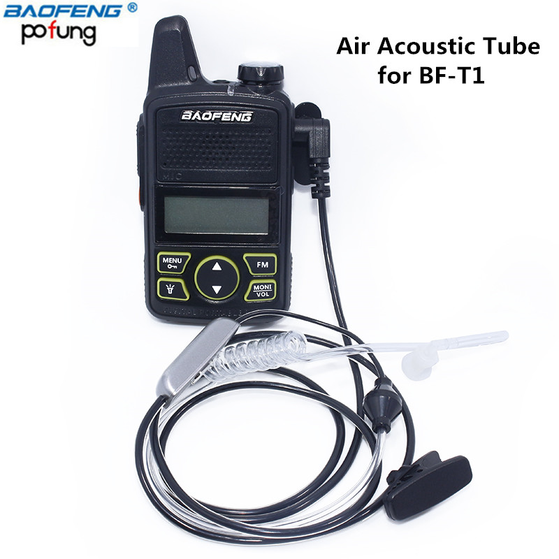Baofeng 1 Pin Covert Air Acoustic Tube Headset Earpiece for Baofeng Walkie Talkie BF-T1 UV-3R Plus Two way Radio