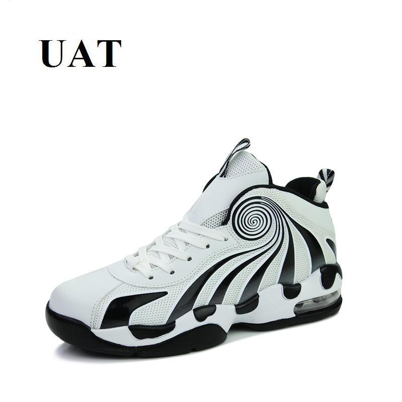 630e09372 2018 جديد وصول الربيع الخريف المراهقين رياضة الثقافة ملابس كرة السلة للرجال  أحذية عالية قمم أحذية رياضية الرجال