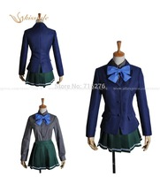 Kisstyle Fashion Accel World Anime Kuroyukihime Girl School Uniform Cosplay Costume Custom Made