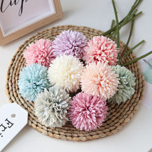 1 PCS Dandelion flower ball simulation road cited flower wall fake flower home decoration wedding holding flower(China)