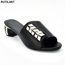 Neue Ankunft Designer Schuhe Frauen Luxus 2019 Nigerian Frauen Hochzeit Schuhe Verziert mit Strass Damen Sandalen mit Fersen