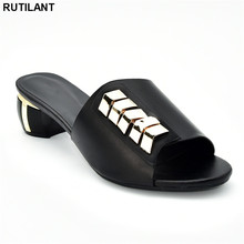 Zapatos de diseño de lujo para mujer, calzado de boda nigeriano decorado con diamantes de imitación, sandalias con tacones, 2019