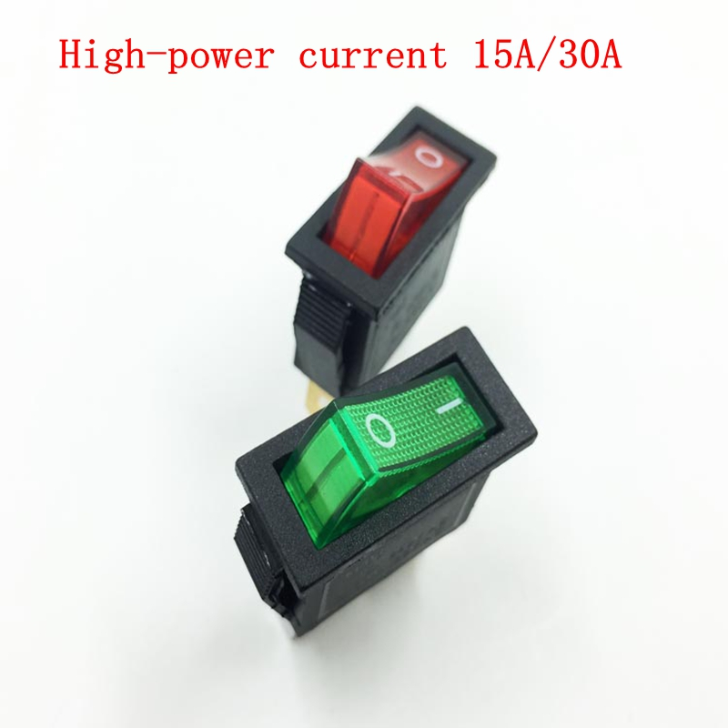 Ship type switch red green 13mm * 30mm with electric wok pan special second gear tripod power switch