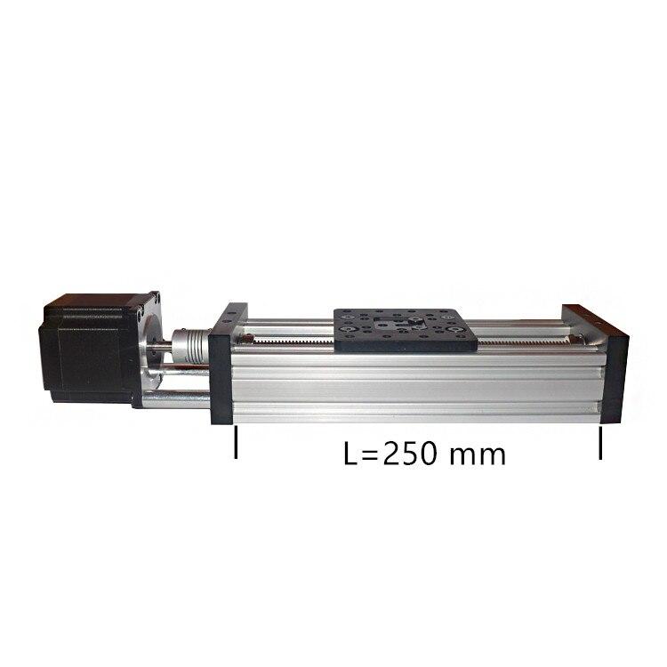 Eixo Z impressora 3d de mesa deslizante CNC parafuso de avanço 250 milímetros T8 nema23 motor de passo atuador linear pacote