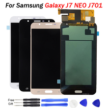 цена на For Samsung Galaxy J7 Neo J701 J701F J701M LCD OLED Display Touch Screen Digitizer Assembly J7 Neo J701 LCD Display