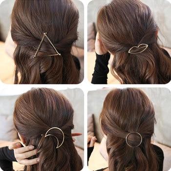 Spinki do włosów geometryczne kształty