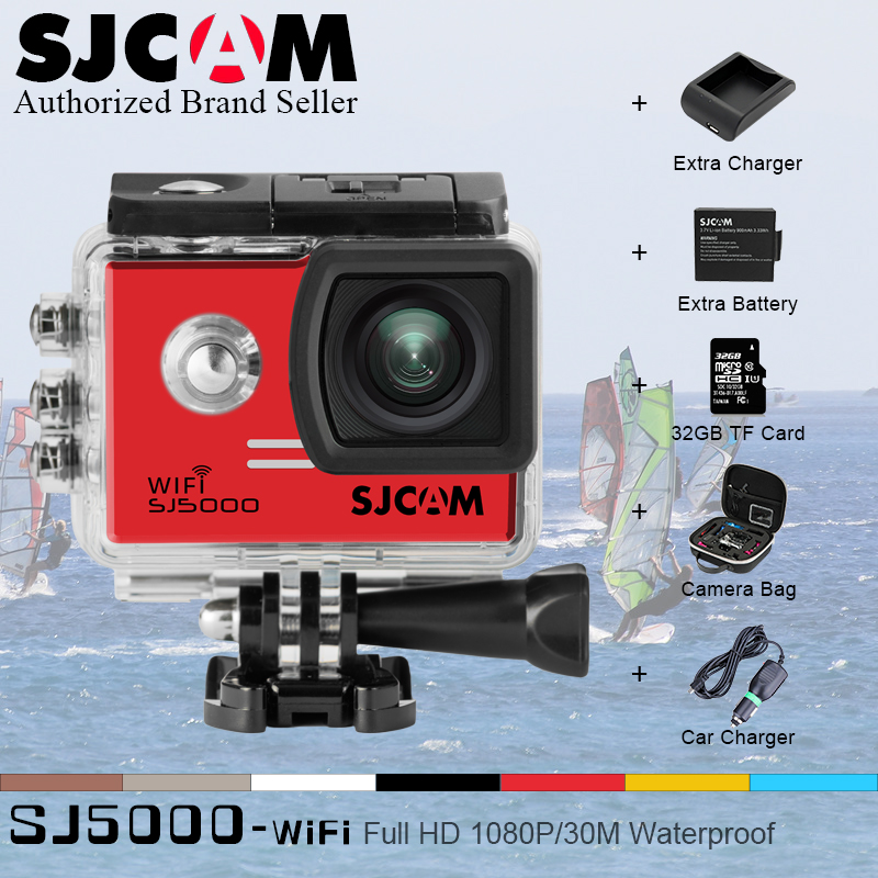 Original SJCAM SJ5000 WIFI Action Camera Sport camera Waterproof Cam Novatek 96655 1080P Full HD gopro style sj 5000 wif Cam DV купить