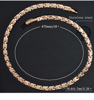 2017 New Arrival 99 99 Full High Pure Germnaium Health Necklace Rose Gold Plated Stainless Steel