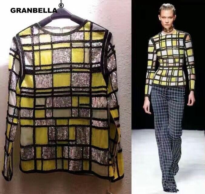 Europäische Marke Design hochwertige quadratische glänzende - Damenbekleidung - Foto 1