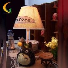 Мультфильм настольная лампа настольная лампа спальня ночники ткань лампа подарки девушки подарок на день рождения