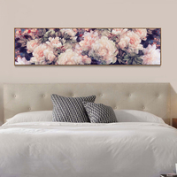5D New Full Diamond Painting Wealthy Peony Flower Cross Stitch Modern Bedside Bedroom Painting Diy Diamond