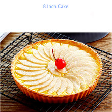 8 Inch Round NonStick Carbon Steel Roaster Cookware Cake Pan with Removable Bottom Tray Baking Cheesecake