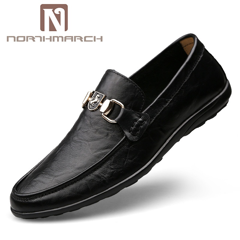 NORTHMARCH Genuine Leather Men Shoes Casual Shoes Hot Sale Slip On Loafers Men Fashion Spring Autumn Male Shoes Moccasins black real leather 2017 mules summer brown european loafers men genuine shoes moccasins half male casual slip ons hot sale page 8