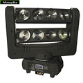 Fast Shipping Super 8*10w CREE RGBW 4-In-1 Beam Light DMX Spider Light Double-Deck Moving Head Light Stage DJ /Bar/Home/Wedding
