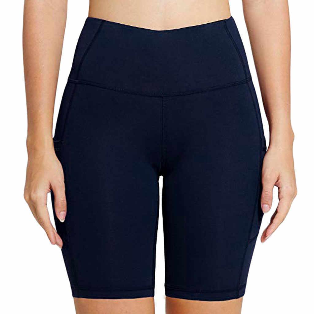 Damskie, czyste, wysokiej talii kieszeń Hip Stretch do biegania pięć punktów joga sport joga trening siłownia Fitness ćwiczenia sportowe