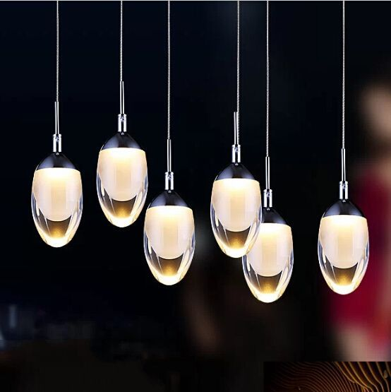 Modern Acrylic Pendant Lamp Led Dining Room Chandelier Fashion Bar Hanging Light Creative Home Decoration Lighting