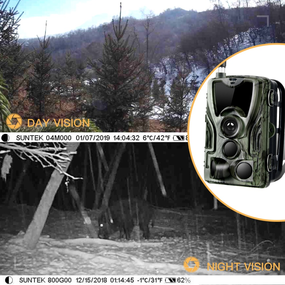 Image 5 - 4G Trail Camera Wildlife Hunting Surveillance Cameras HC 801LTE 16MP 0.3S Trigger Infrared With Antenna Wild cam Cameras-in Hunting Cameras from Sports & Entertainment