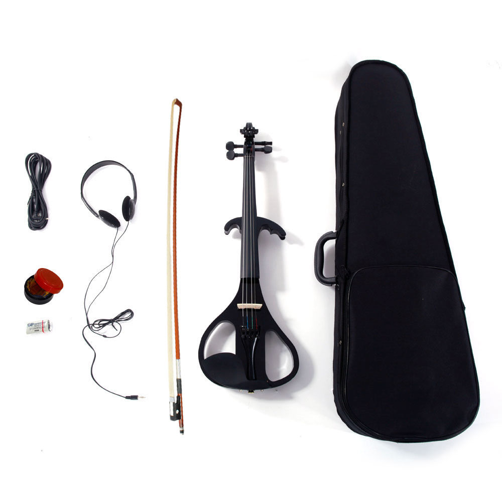 NAOMI Electric Violin 4 4 Electric Silent Violin Case Rosin Head Set Bow For Beginners Students