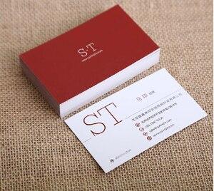 Image 2 - 300 gsm wielokolorowy wizytówka podwójna obliczu wizytówka jakości biznes papier kartonowy drukowanie wizytówek