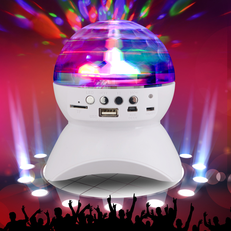 ФОТО Wireless Bluetooth Speaker Party Starter Portable Pocket-Sized Bluetooth Speaker With Built-In Light Show Support TF USB Aux in