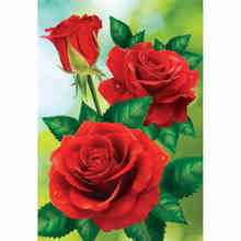 Charming Realistic Red Roses Printed DIY Diamond Painting