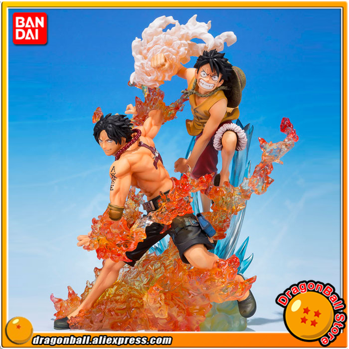 ONE PIECE Original BANDAI Tamashii Nations Figuarts ZERO Collection Figure - Monkey D. Luffy & Portgas D. Ace (Brother's Bond) japanese anime original bandai figuarts zero one piece 5th anniversary edition monkey d luffy