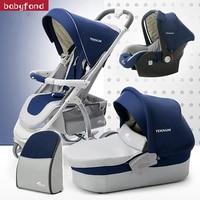 4 in 1 baby strollers 3 in 1 bebe Pram new desigin luxury folding four wheels baby stroller baby car child stroller send gifts