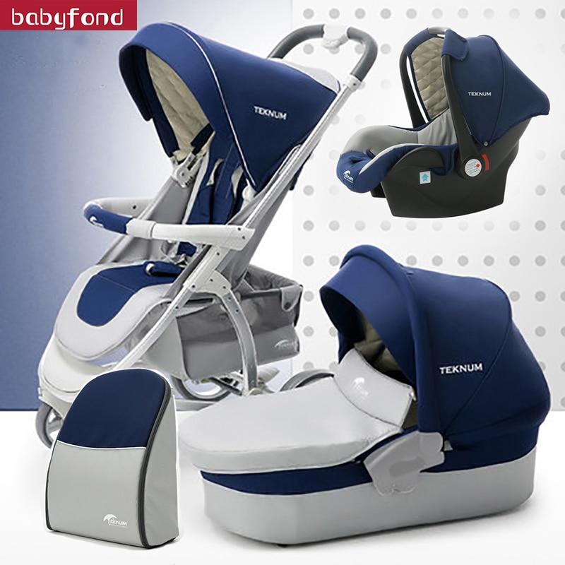 4 in 1 baby strollers 3 in 1 bebe car new desigin luxury folding four wheels baby stroller baby car child stroller send gifts цена 2017
