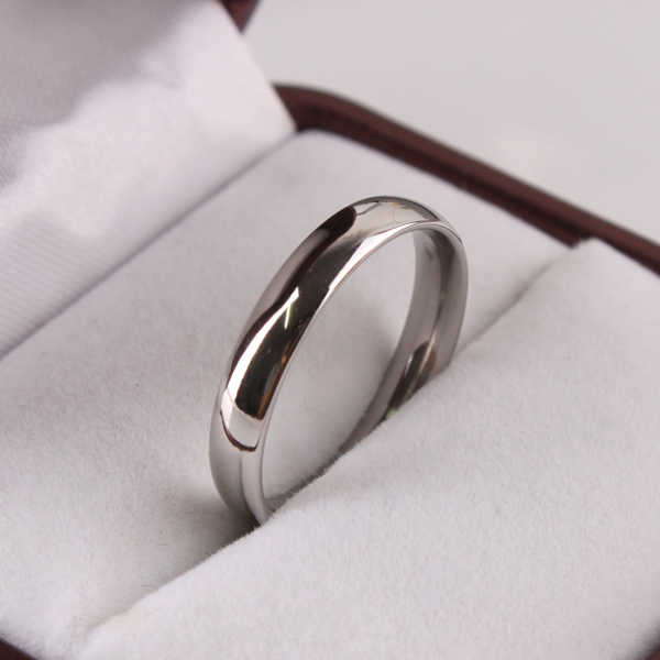 free shipping Wide 3mm Light version SILVER color rings 316L Stainless Steel women jewelry finger ring  wholesale lots