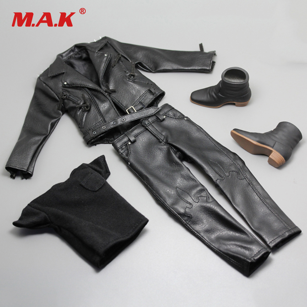 1/6 Ghost Rider Clothes Leather Jacket Pants Set for 12 inches Action Figures 1 6 fashion custom air force jacket set punk jacket set with canvas bucket bag f 12 inches g dragon male body action figures